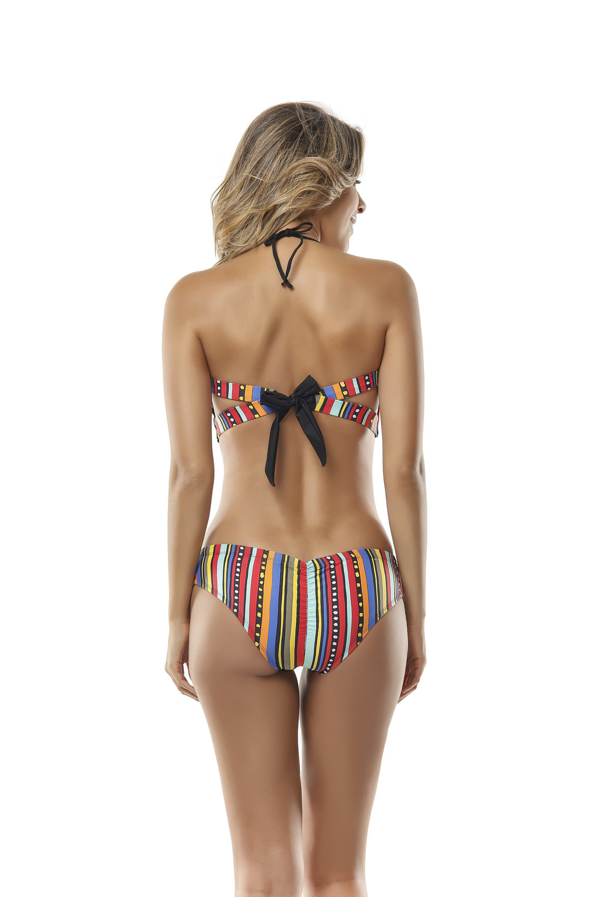 Paradizia Swimwear: Hearts Painted Bow Back Cutout Monokini