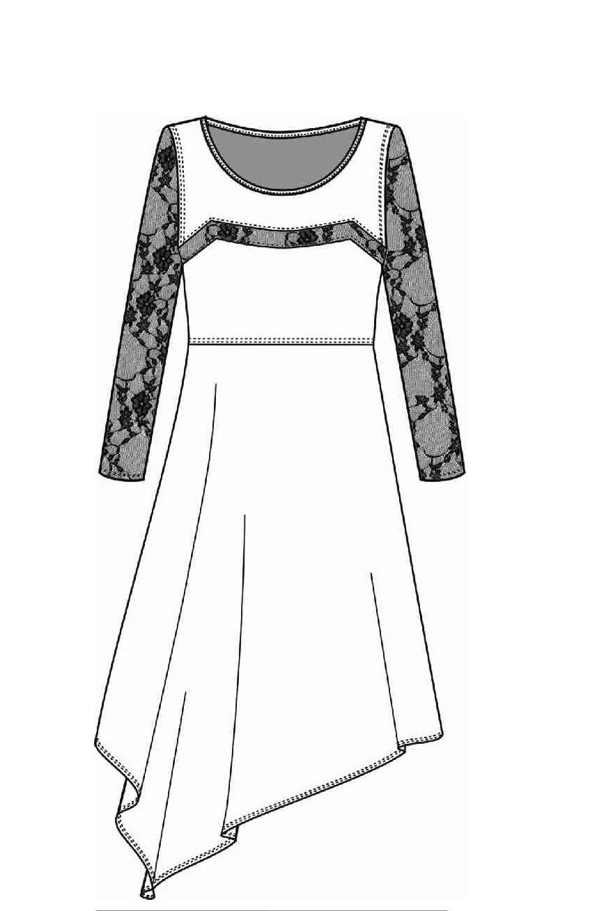 Maloka: Asymmetrical Cherry Lace Dress (Only Wine, Black & Titanium Left!)