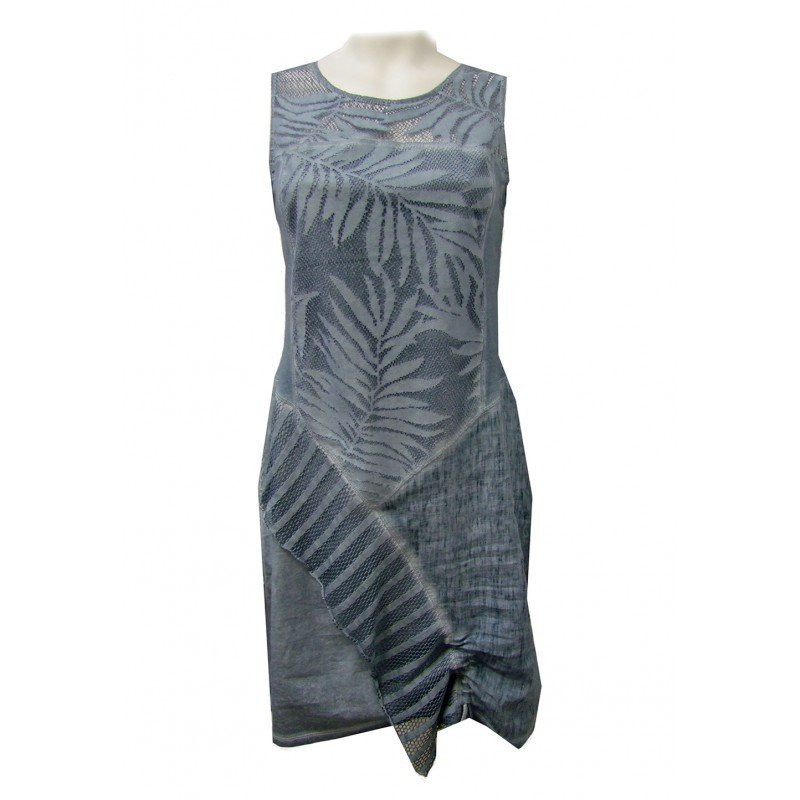Maloka: Brushed Cotton Fiji Leaf Tied Hem Sundress (More Colors!)