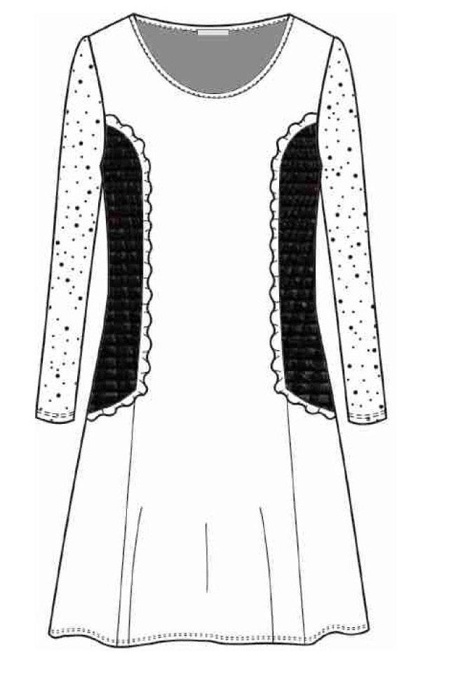 Maloka: Side Ruffled & Laced Midi Nylon Dress (1 Left!)