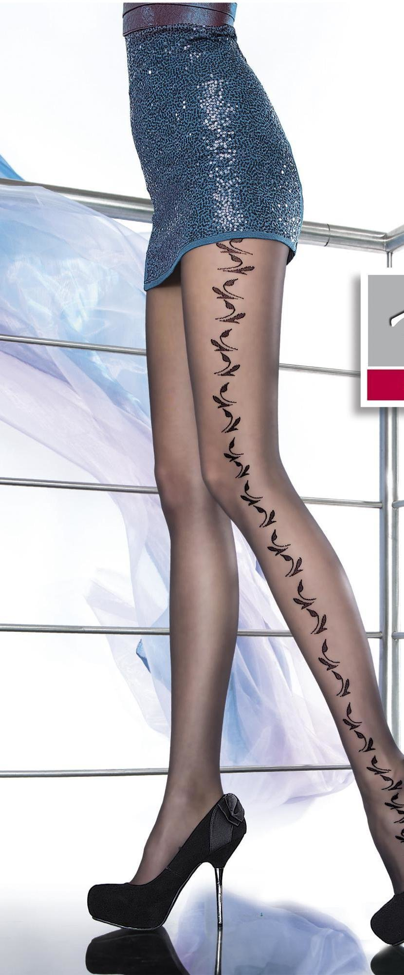 Fiore: Falling Rose Petals Matte Sheer Tights FIO_ZILDA