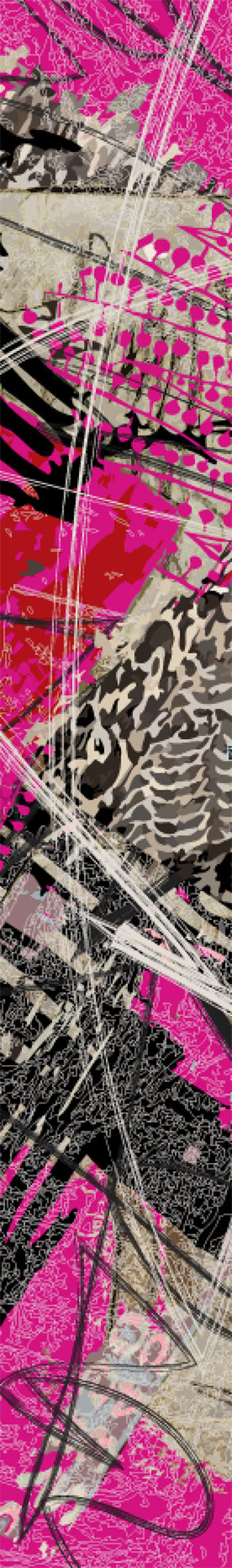 Volt Design: Pink Forest Abstract Art A-line Dress  (Some Ship Immed!)