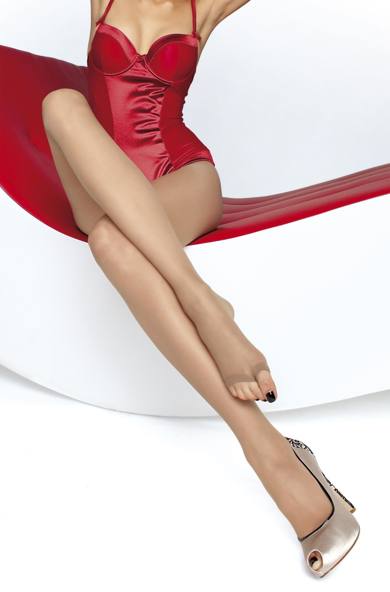 Fiore: Sexy Sheer Toeless Tights (More Colors!) FIO_EVELINE