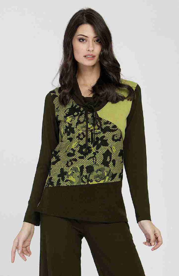 Maloka: Jacquard Flower Swivel Neck Sweater ( 1 Left!)
