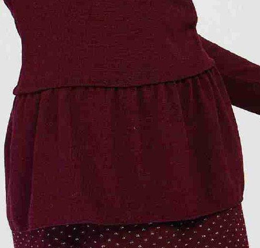 Maloka: Soft Ruffles Wool Tricot Sweater (Few Left!)