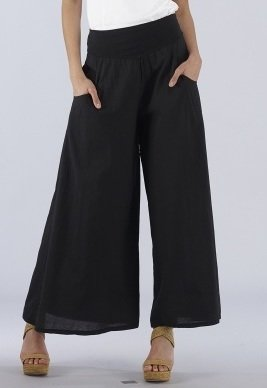 Luna Luz: Feather Light High Waisted Cotton Pant (Ships Immed, 1 left!) LL_211_N