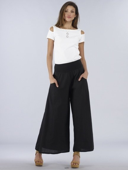 Luna Luz: Feather Light High Waisted Cotton Pant (Ships Immed, 1 left!)