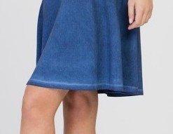 Maloka: Blue Jeans Brushed Cotton Shift Dress (1 Left!)