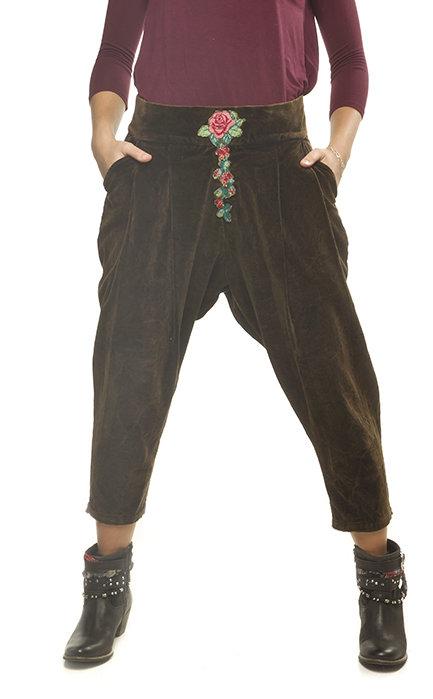 Savage Culture: Rosette Cropped Cotton Pant Antika SAVAGE_33212