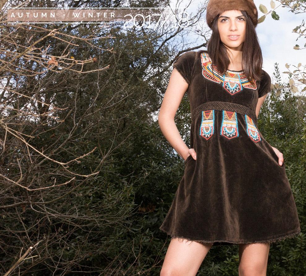 Savage Culture: Velvet Truffle Fit & Flare Mini Dress/Tunic Antika SAVAGE_33210