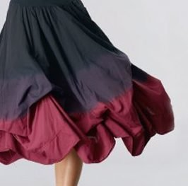 Luna Luz: Cherry Ombre Off The Shoulder Tied & Dyed Dress SOLD OUT