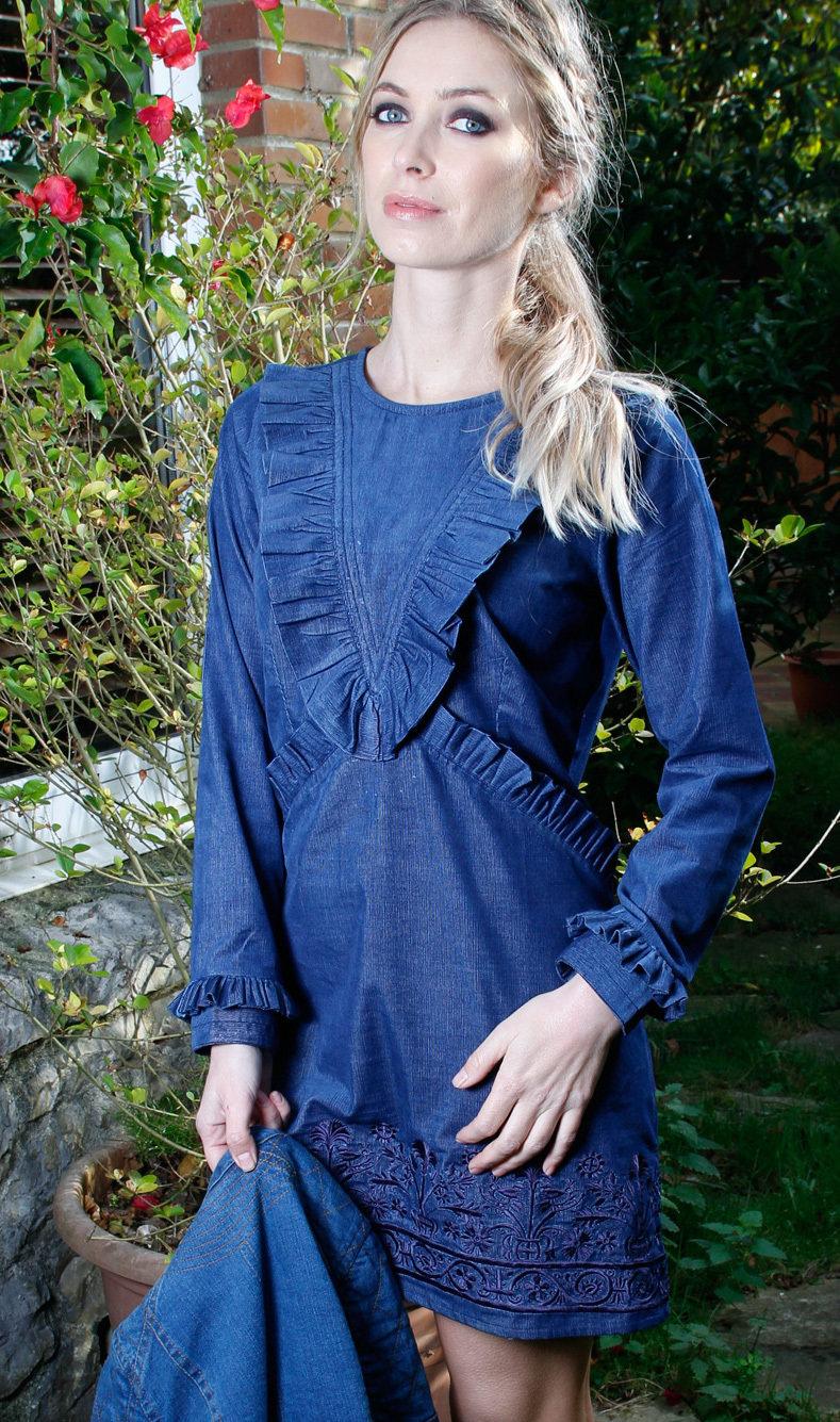Savage Culture: Frivolous Frills Corduroy Dress Daniella (More Colors!) SAVAGE_33050