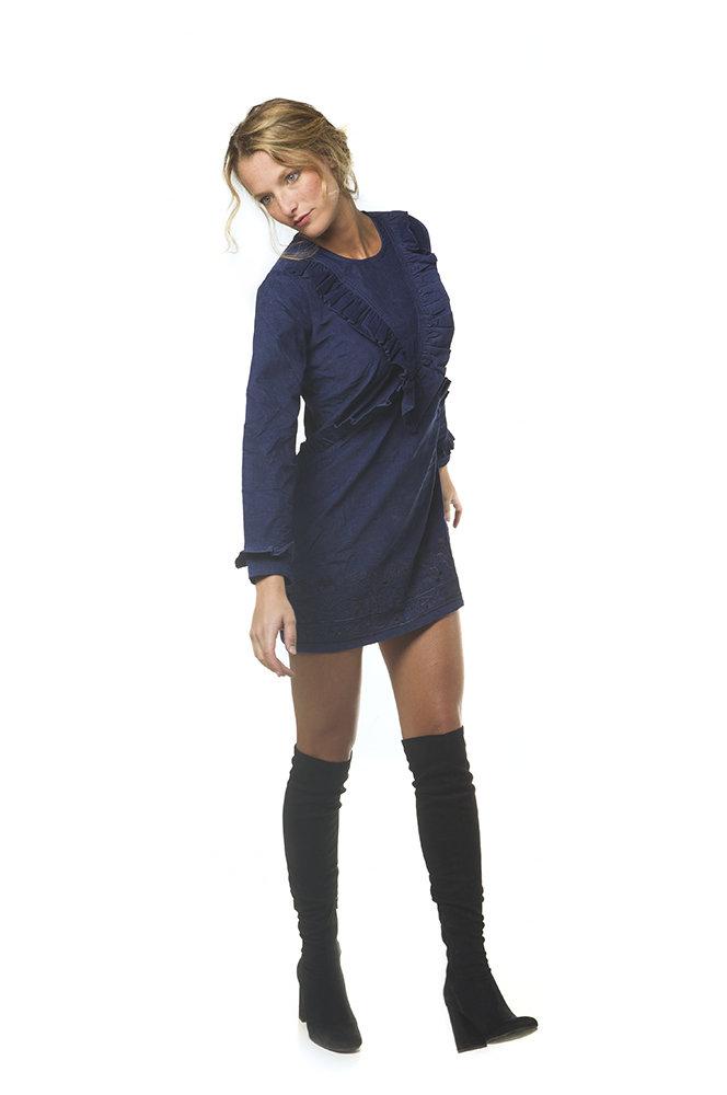 Savage Culture: Frivolous Frills Corduroy Dress Daniella (More Colors!)