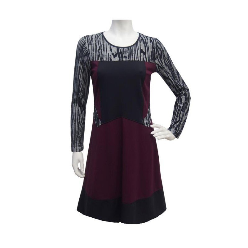 Maloka: Diamond Bodice Jacquard Dress (2 Left!)