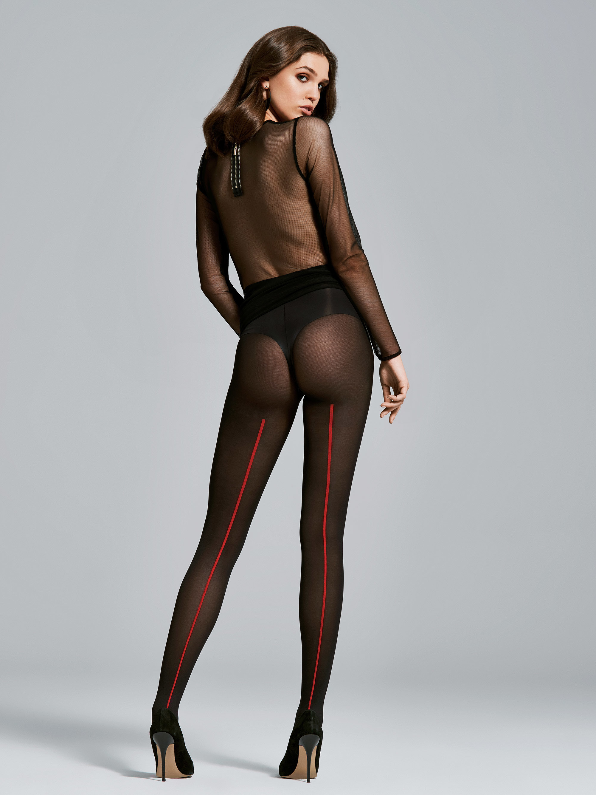 Fiore: Moulin Rouge Opaque Microfibre Tights