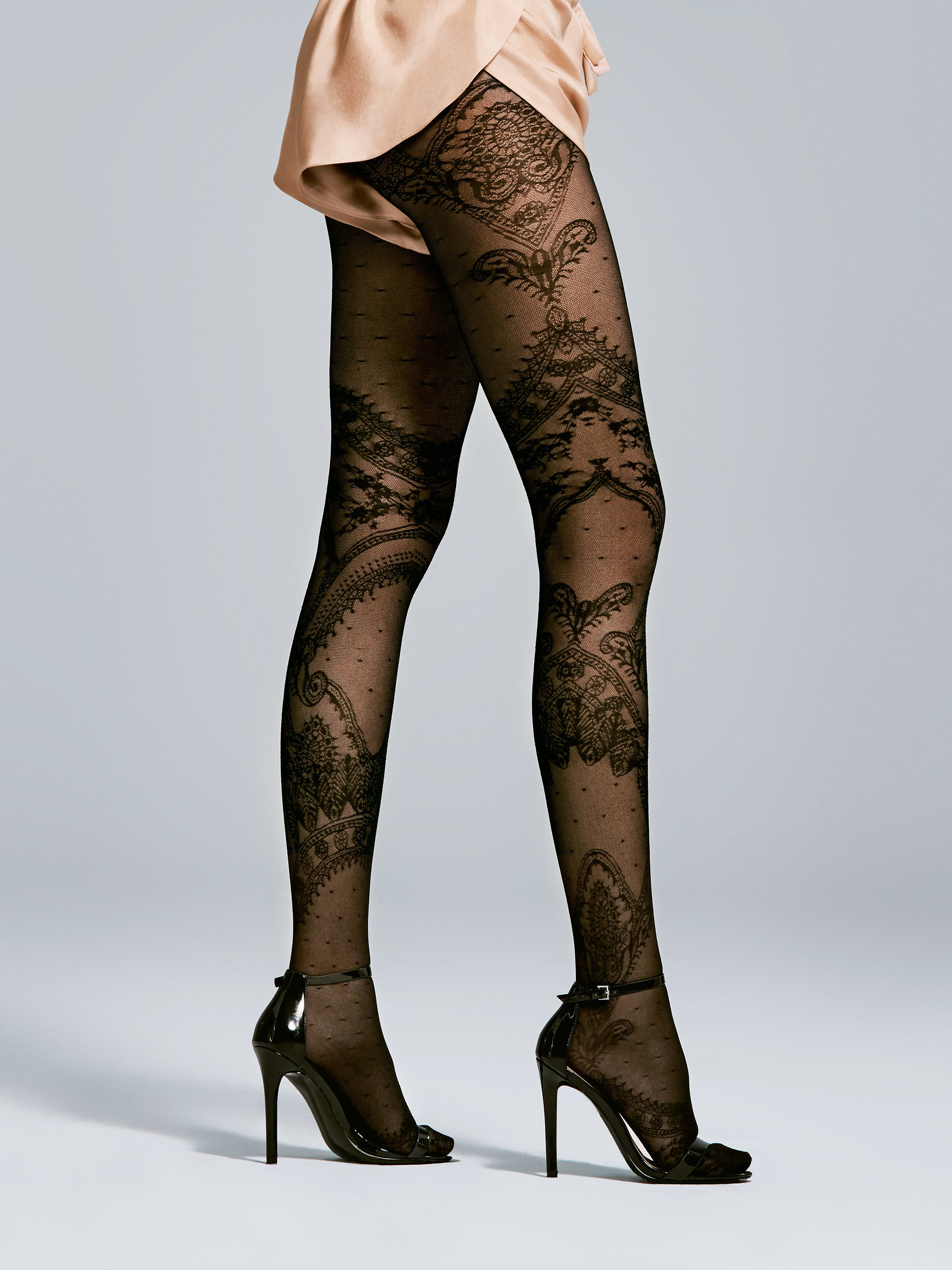 Fiore: Sexy In Paris 3D Jacquard Patterned Tights SOLD OUT