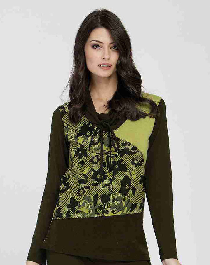 Maloka: Jacquard Flower Swivel Neck Sweater ( 1 Left!) MK_EBBA_N1