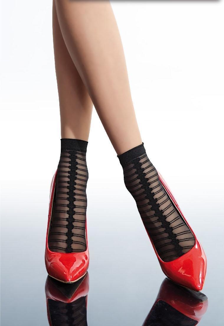 Fiore: Little Black Sexy Trouser Socks FIO_LARIA