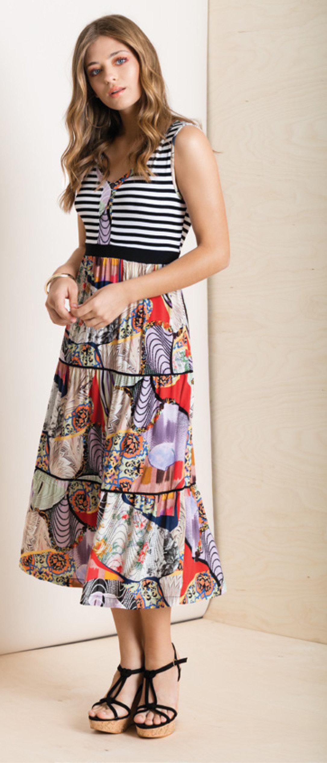 Maloka: Seashells Colorblock Maxi Dress (Few Left!) MK_IDALIA_N