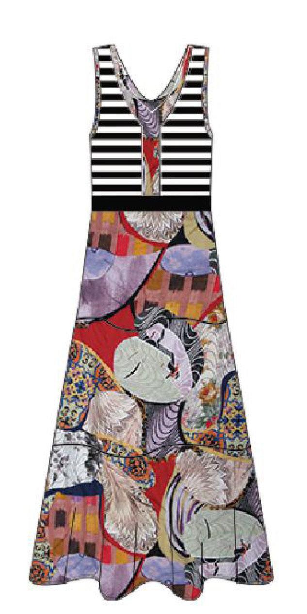 Maloka: Seashells Colorblock Maxi Dress (Few Left!)