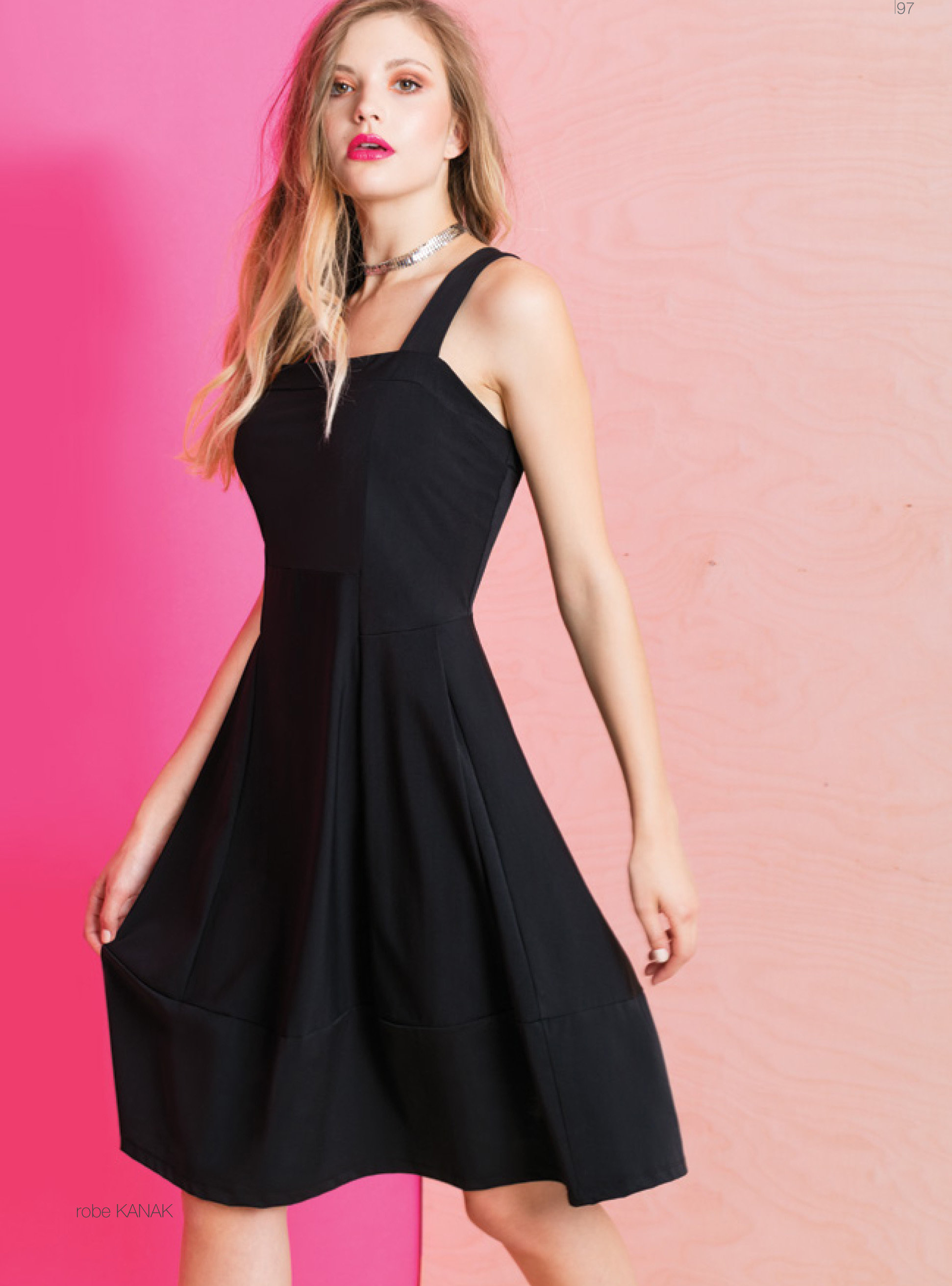Maloka: Flirty Boxed Bodice Fit & Flare Dress (1 Left!) MK_KANAK_N