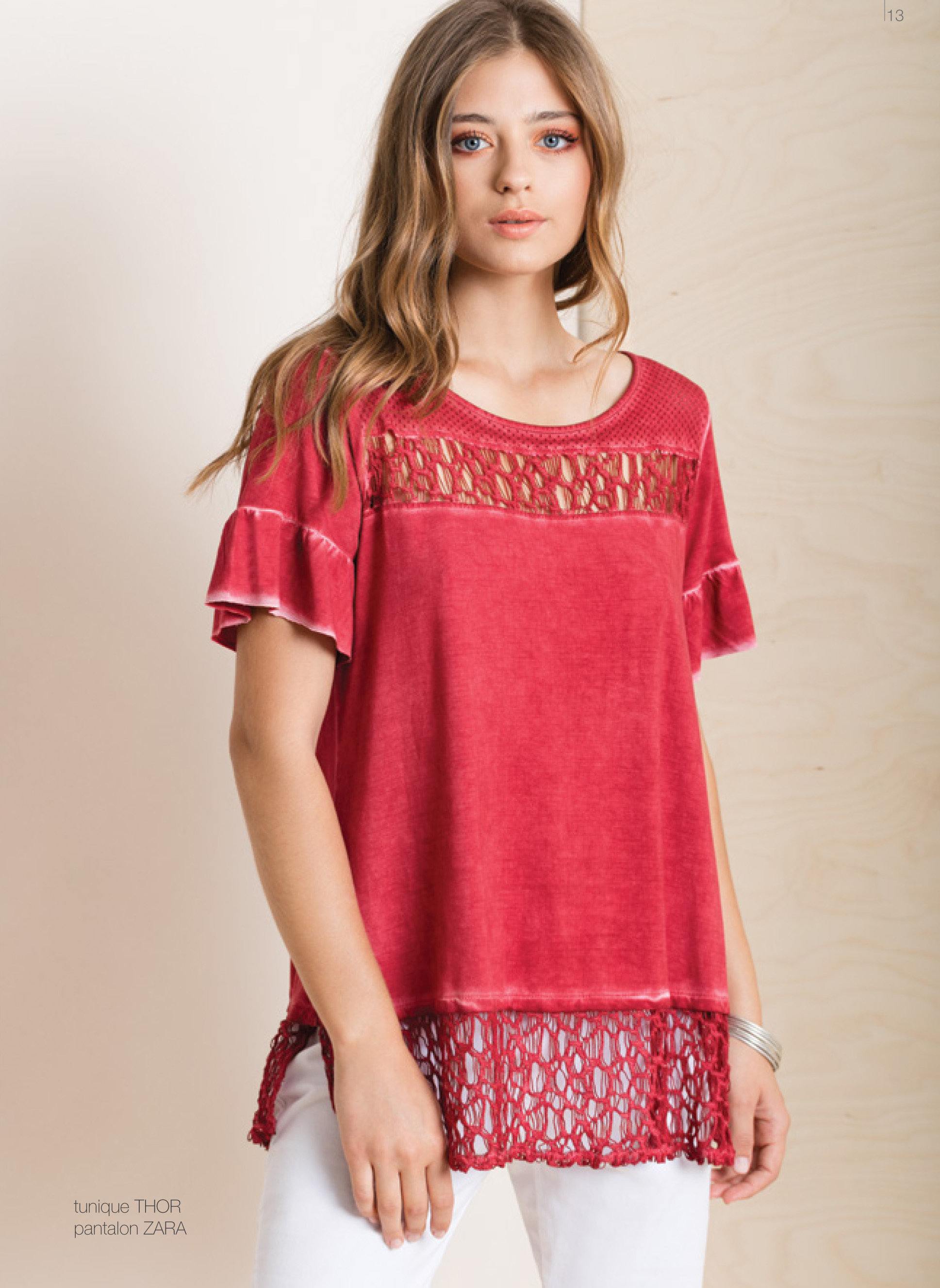 Maloka: Tulip Sleeves Crushed Comfy Cotton Tunic (Only Fuschia Left!) MK_THOR
