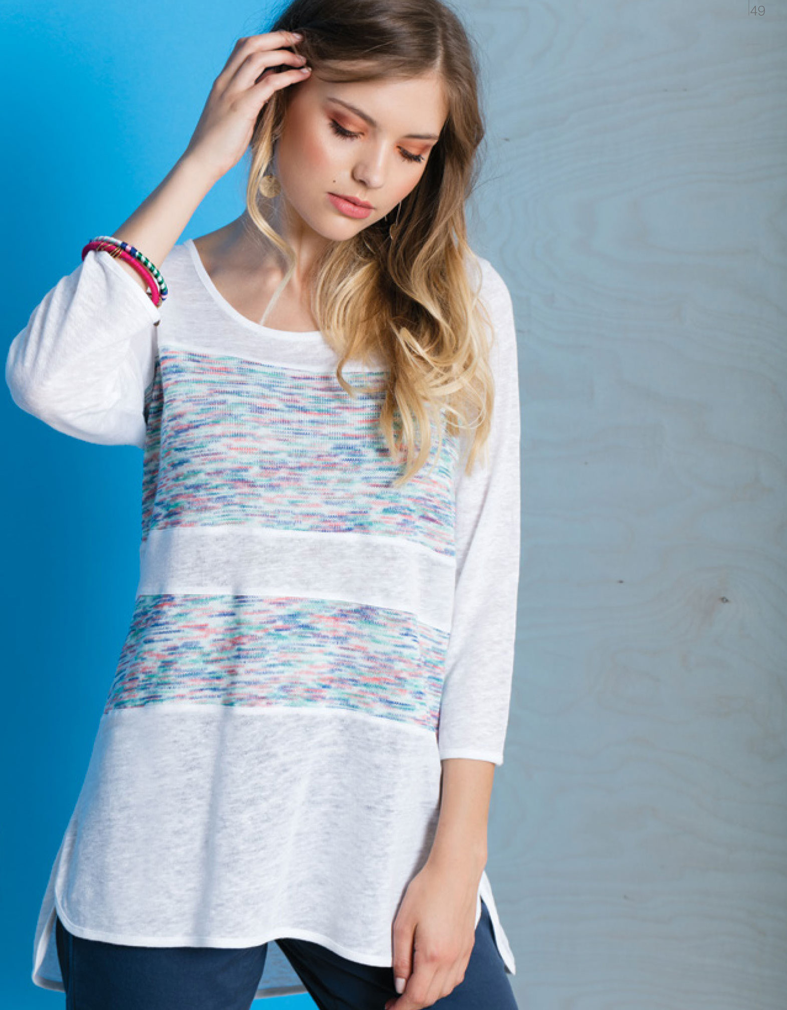 Maloka: Shades Of A Snowy Sky Linen High Low Tunic (Few Left!) MK_FLEURY