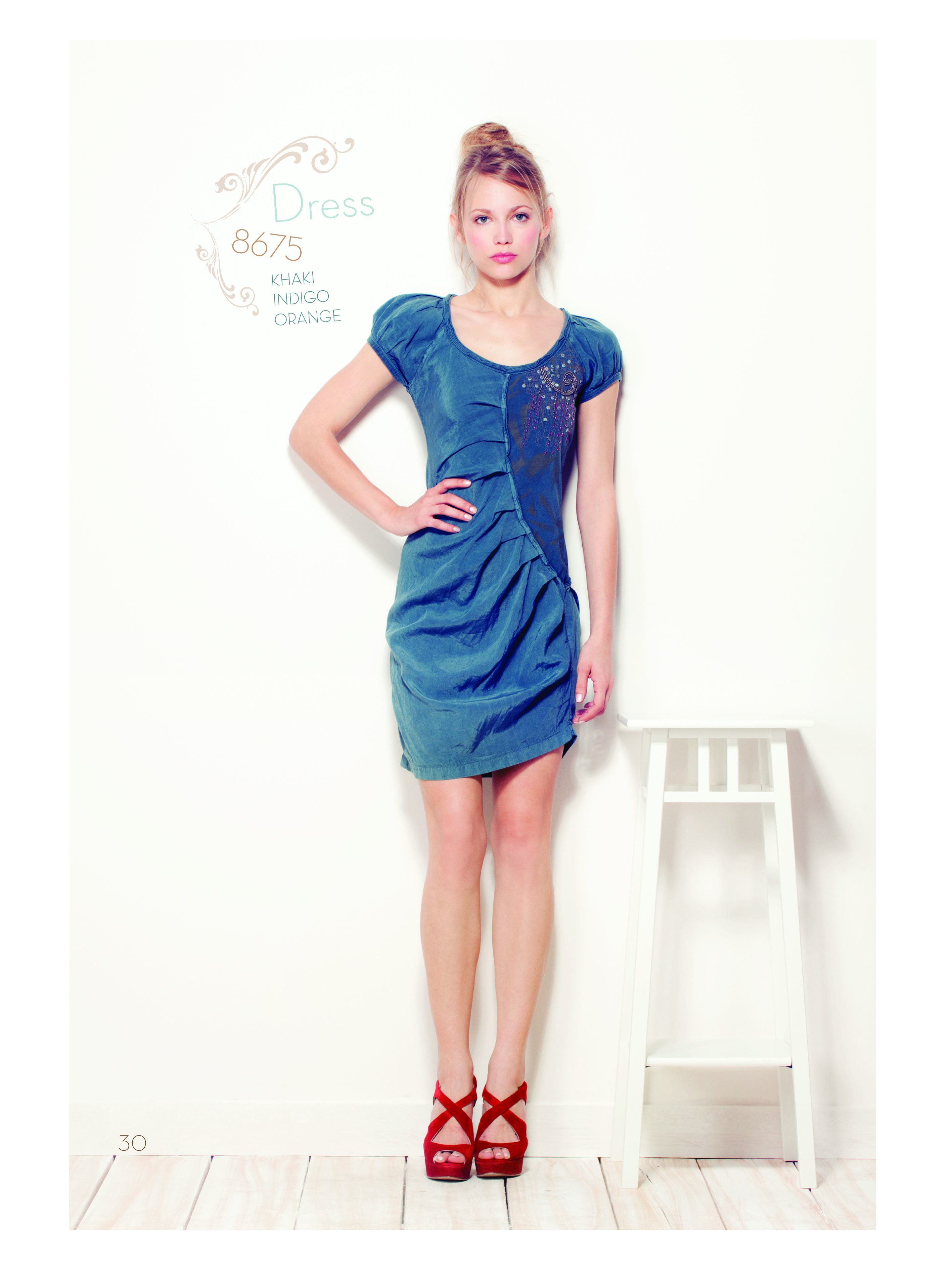 Angels Never Die Diagonally Ruched Dress AND_8675