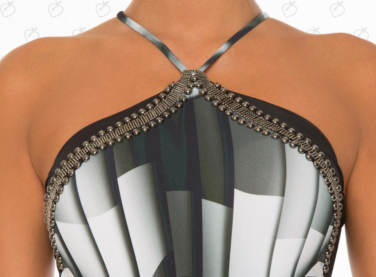 Paradizia Swimwear: Black Onyx Cutout One-Piece Swimsuit