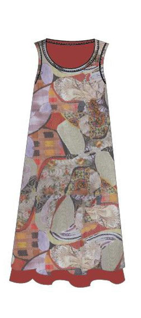 Maloka: Puzzle Pieces Abstract Art Midi Dress (Few Left!)