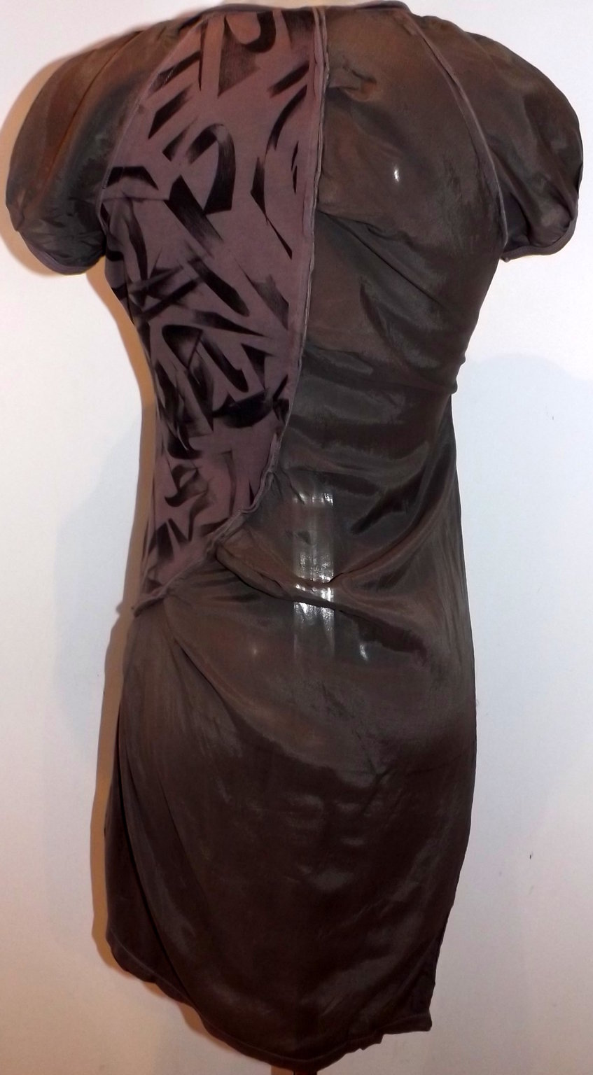 Angels Never Die Diagonally Ruched Dress
