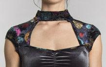 Myco Anna: Velvet Flower Petal Geisha Dress
