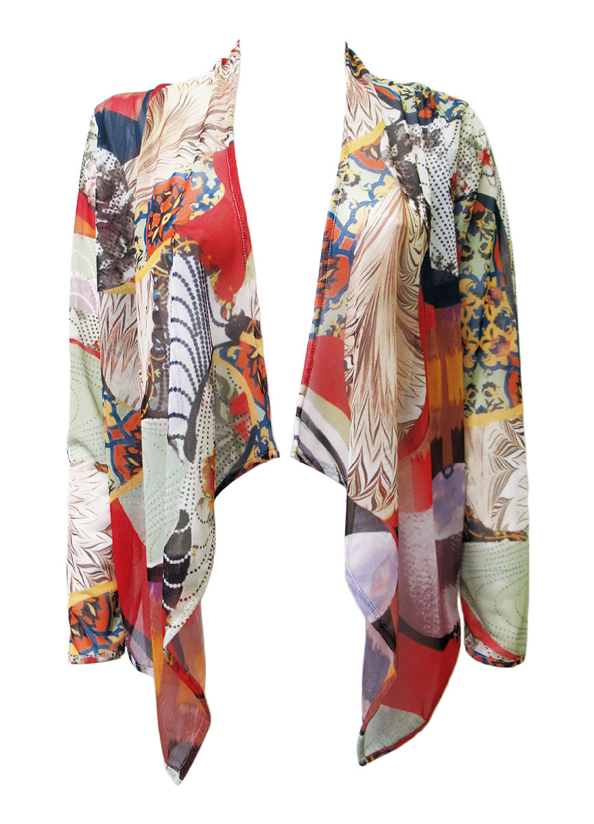 Maloka: Puzzle Pieces Abstract Art Asymmetrical Bolero (1 Left!)