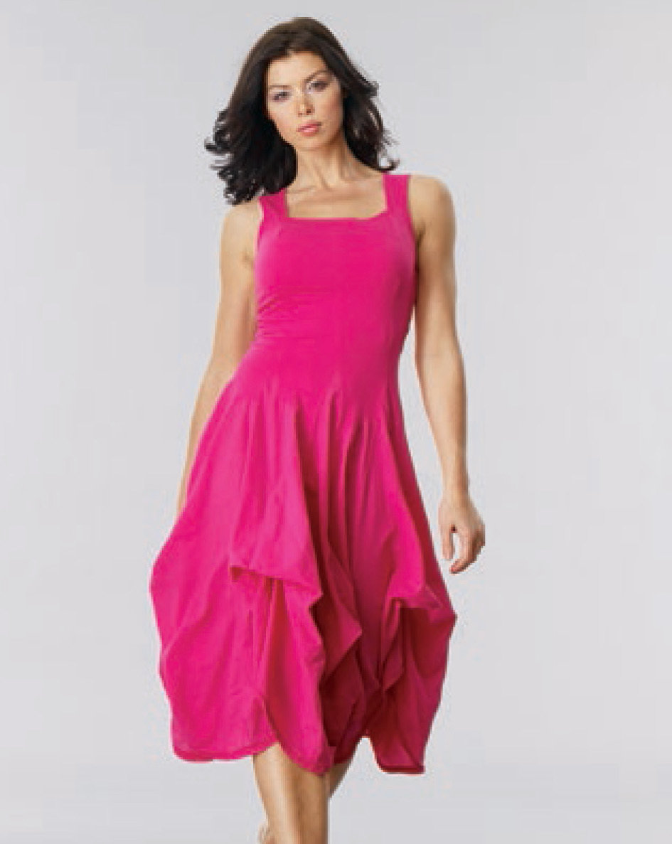 Luna Luz: Romantic Square Neck Tied & Dyed Midi Dress (More Colors, Some Ship Immed!) LL_534T_N