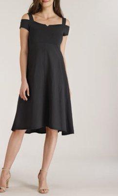 60665231f3d Luna Luz  Elegant Capped Cold Shoulder A-line Dress (Many Colors