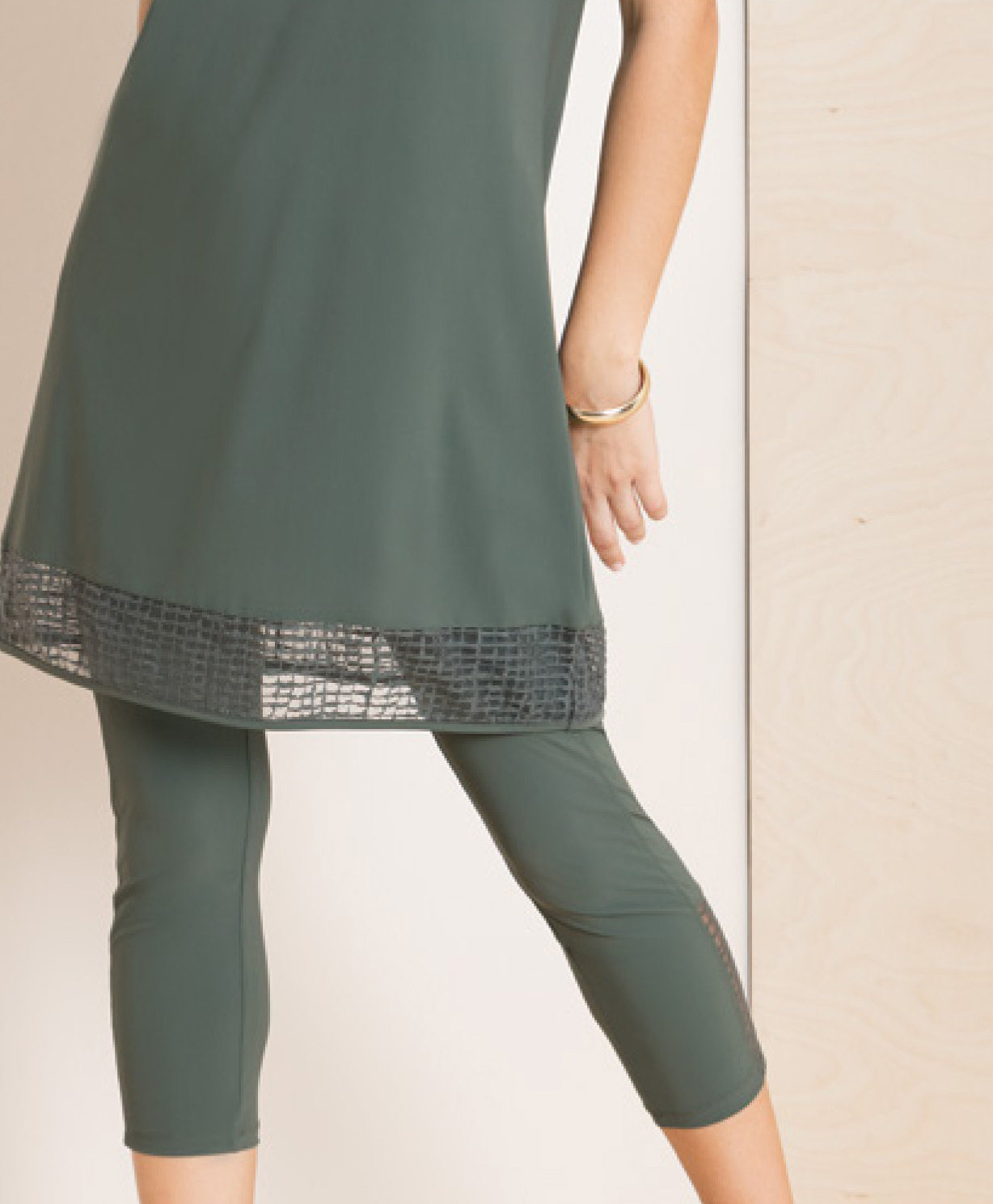Maloka: Martini Olive Cold Shoulder Long Tunic (More Colors!)