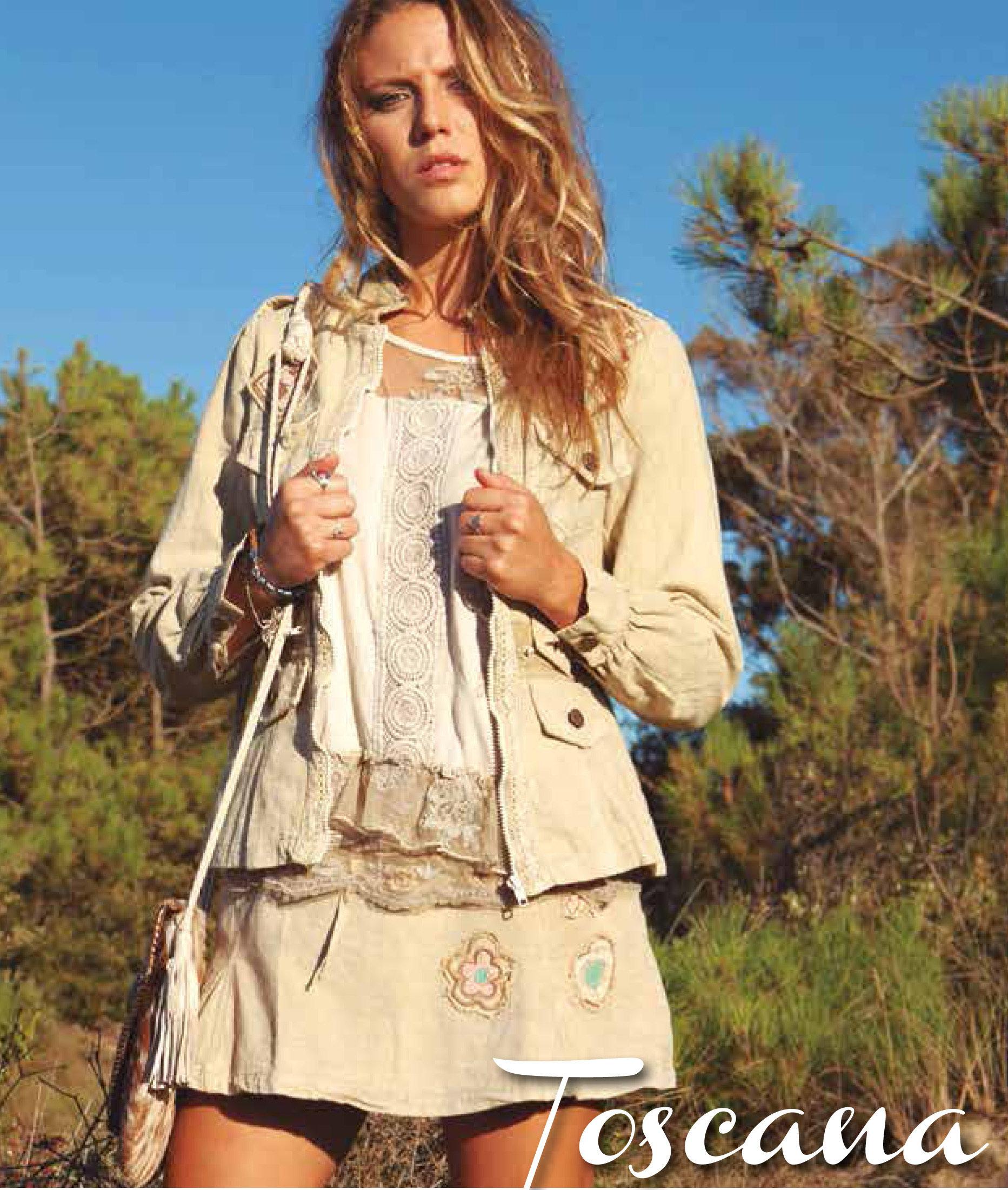 Savage Culture: Soft Denim Creme Patchwork Zip Up Jacket Toscana