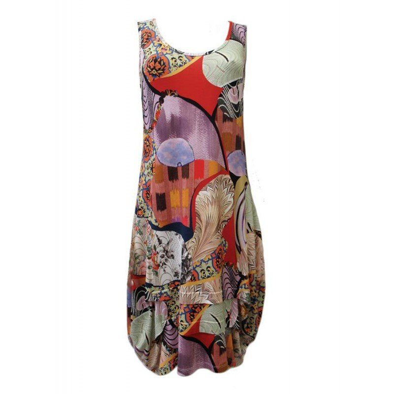 Maloka: Puzzle Abstract Drape Shift Dress SOLD OUT MK_INAELLE