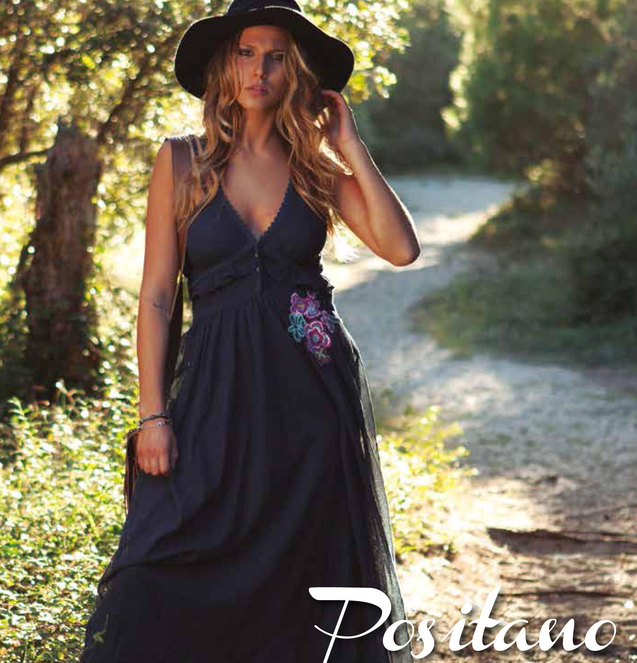 Savage Culture: Sexy Sweetheart Arabesque Cotton Maxi Dress Positano SAVAGE_34017