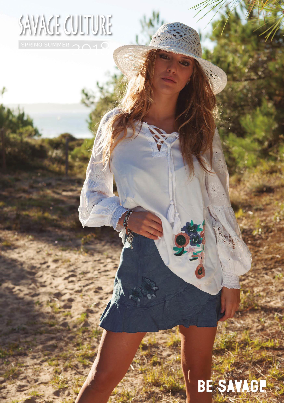 Savage Culture: Rosette Patchwork Peasant Cotton Tunic Capri