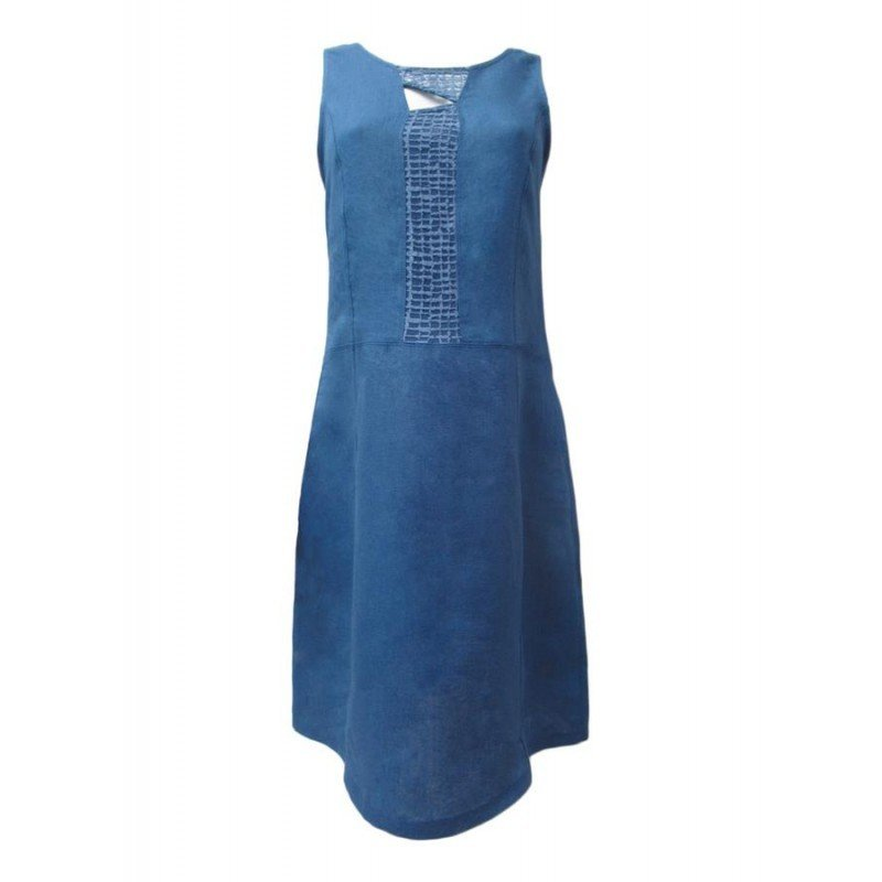 Maloka: Blue Crystal Bodice Linen Dress (Few Left!) MK_ROSIE