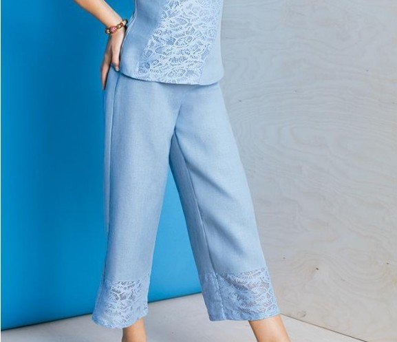 Maloka: Soft Linen Floral Lace Wide Leg Trouser (Many Colors!) MK_PRUNE