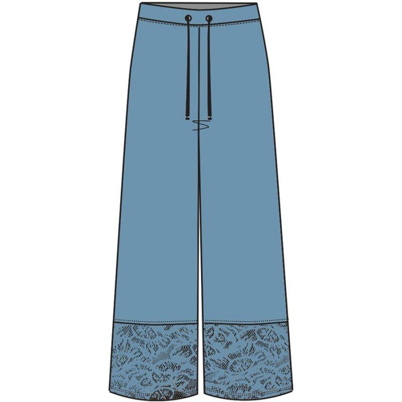 Maloka: Soft Linen Floral Lace Wide Leg Trouser (Many Colors!)