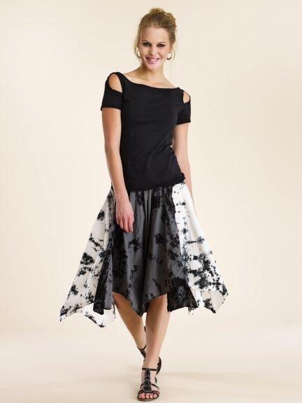 Luna Luz: Yoruba Asymmetrical Handkerchief Skirt (Ships Immed!) LL_275Y_N1