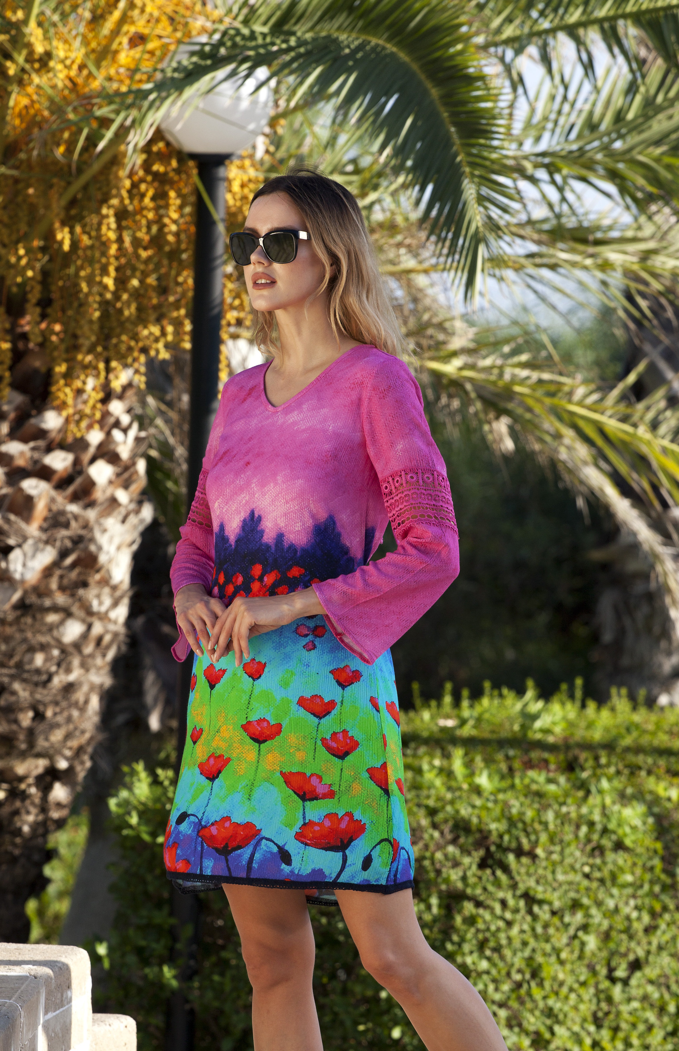 Simply Art Dolcezza: Fuschia Pink Indigo Painting Art Dress (1 Left!) DOLCEZZA_SIMPLYART_18626