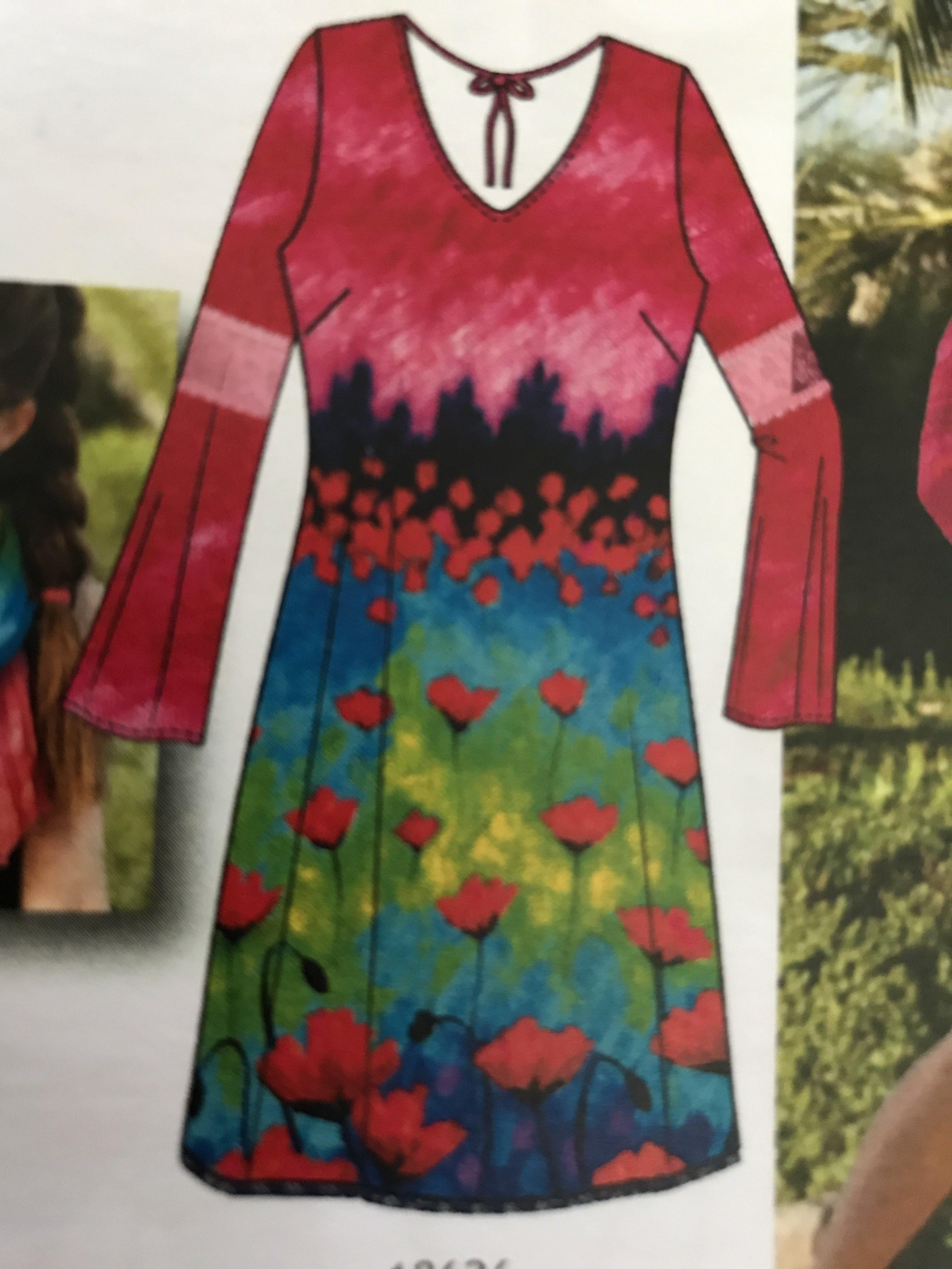 Simply Art Dolcezza: Fuschia Pink Indigo Painting Art Dress (1 Left!)