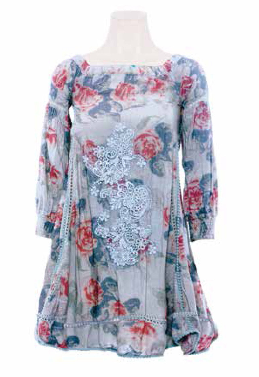 Savage Culture: Deliciously Sexy Ruffled Roses Dress/Tunic Positano II