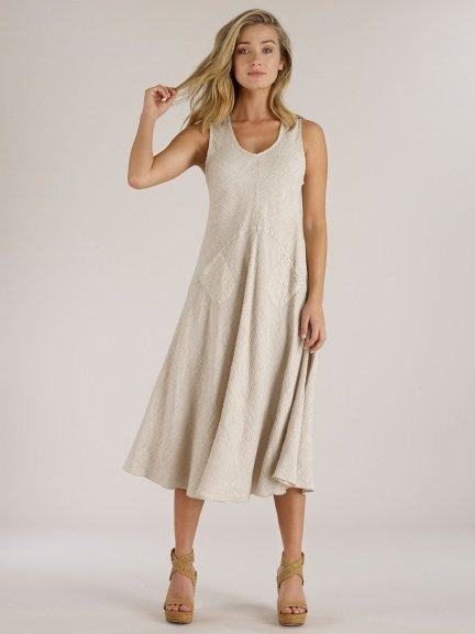5b143935211 Luna Luz  Striped Linen Pocket Midi Dress (NEW SS18 Colors   Now Available  in XS!)