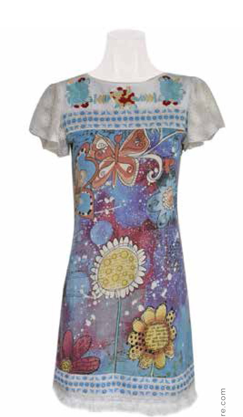 Savage Culture: Twinkle Little Star Sleeve Cotton Midi Dress Amalfi