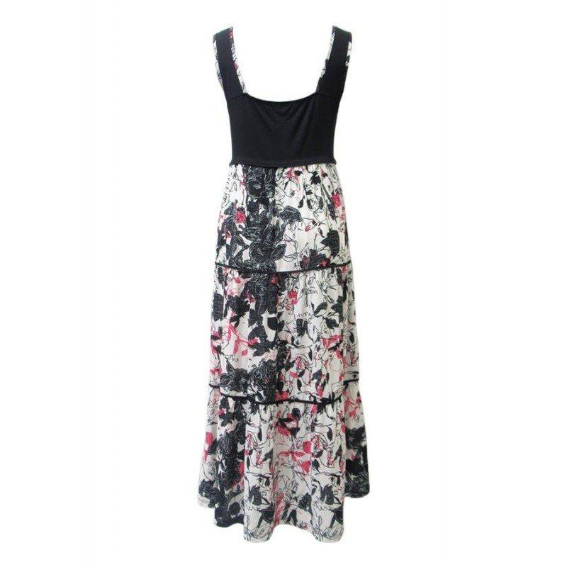 Maloka: Hot Pink Fantasy Colorblock Maxi Dress
